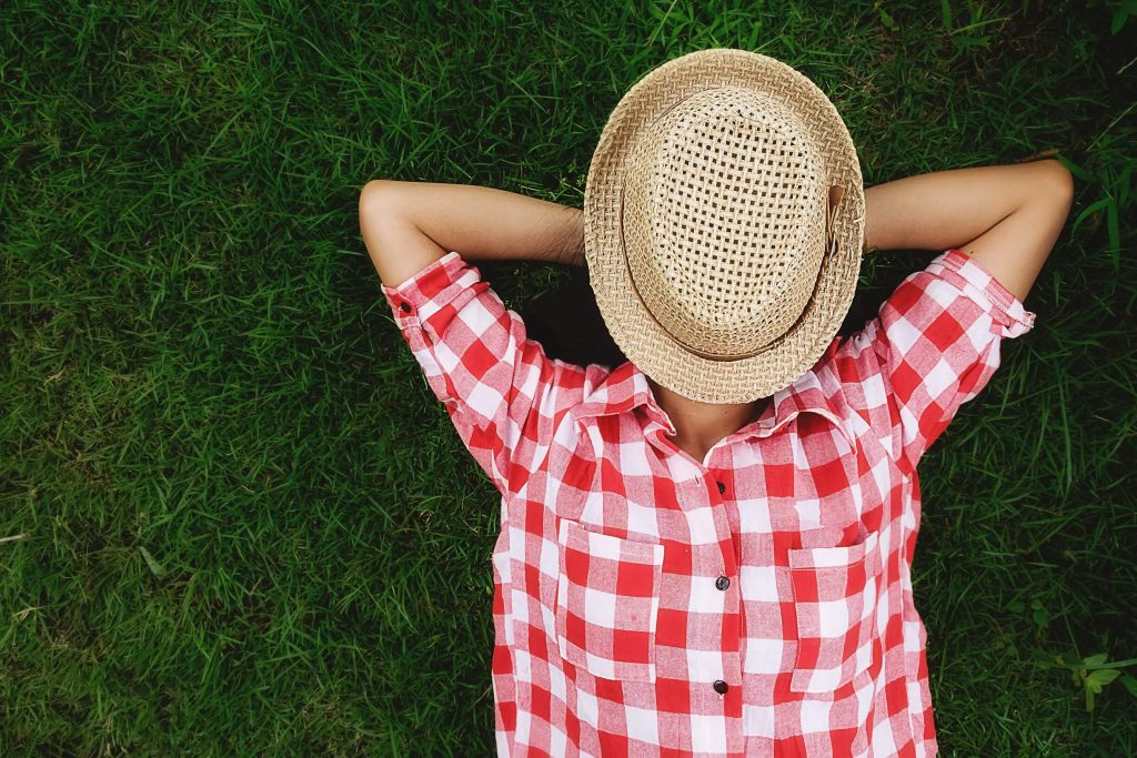 aproveitar a natureza: relaxar